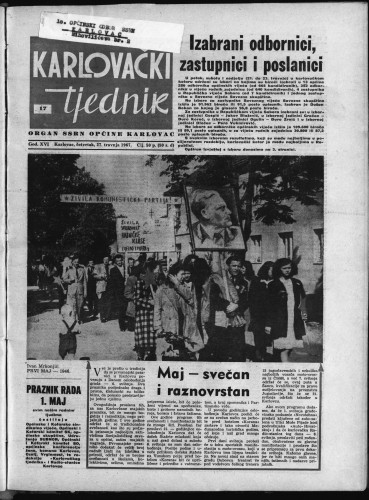 Karlovački tjednik: 1967 • 17