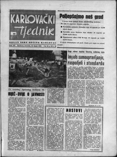 Karlovački tjednik: 1966 • 23