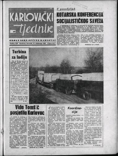 Karlovački tjednik: 1965 • 45