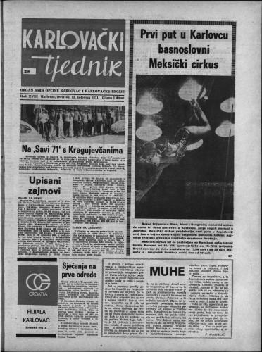 Karlovački tjednik: 1971 • 32