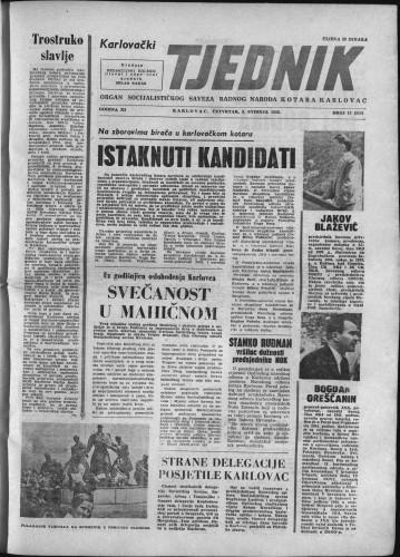 Karlovački tjednik: 1963 • 17