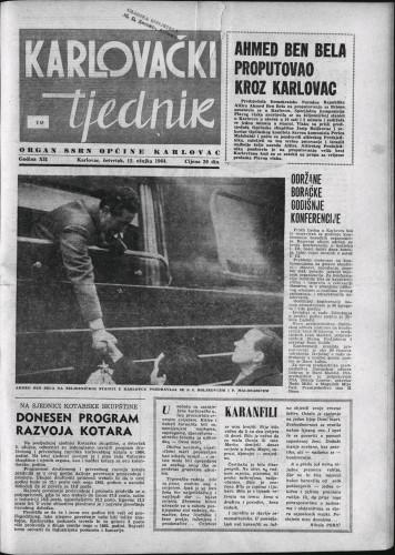 Karlovački tjednik: 1964 • 10