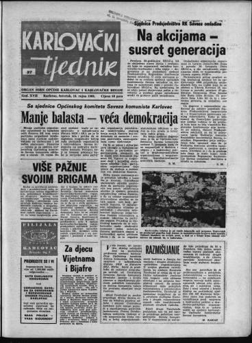 Karlovački tjednik: 1969 • 37