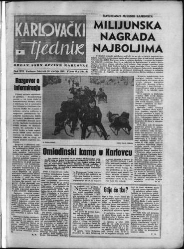 Karlovački tjednik: 1968 • 2