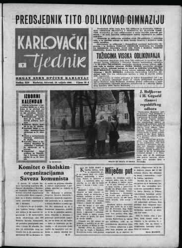 Karlovački tjednik: 1965 • 7