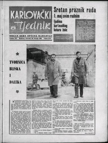Karlovački tjednik: 1965 • 17