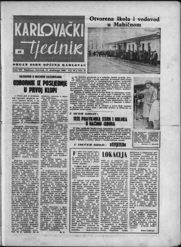 Karlovački tjednik: 1966 • 45