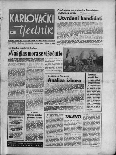 Karlovački tjednik: 1969 • 20