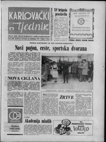 Karlovački tjednik: 1972 • 46