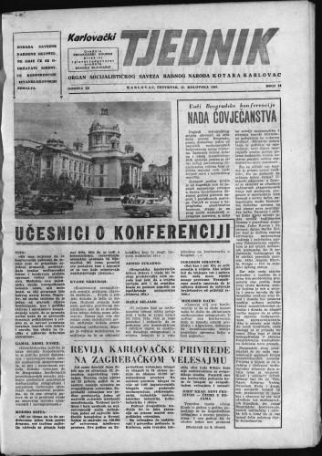 Karlovački tjednik: 1961 • 34