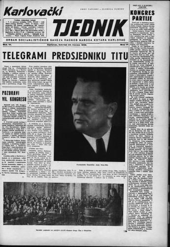 Karlovački tjednik: 1958 • 17