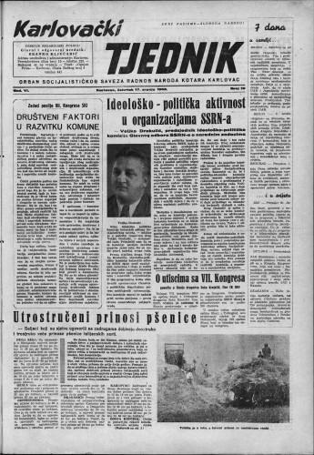 Karlovački tjednik: 1958 • 29