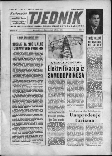 Karlovački tjednik: 1961 • 9