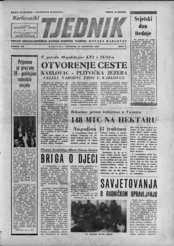 Karlovački tjednik: 1959 • 44