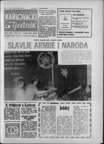 Karlovački tjednik: 1976 • 52