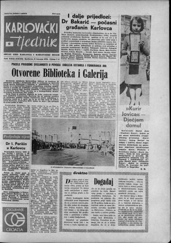 Karlovački tjednik: 1976 • 15
