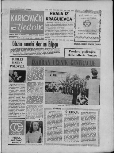 Karlovački tjednik: 1973 • 20