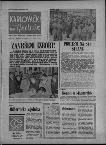 Karlovački tjednik: 1974 • 13