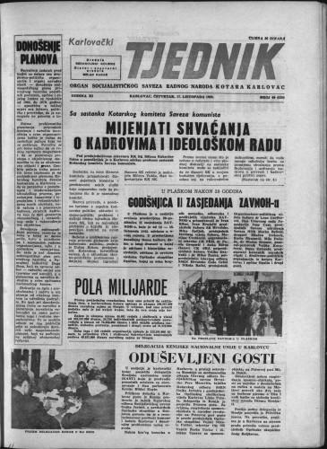 Karlovački tjednik: 1963 • 40