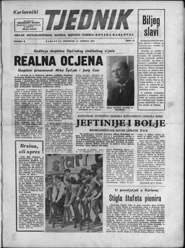 Karlovački tjednik: 1962 • 19
