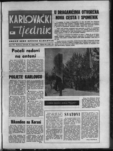 Karlovački tjednik: 1967 • 37