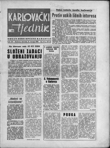 Karlovački tjednik: 1966 • 15