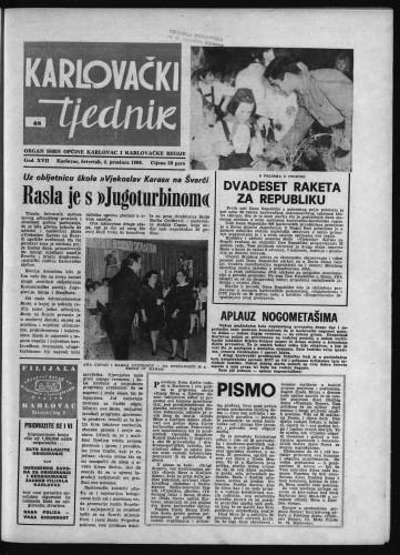 Karlovački tjednik: 1969 • 48