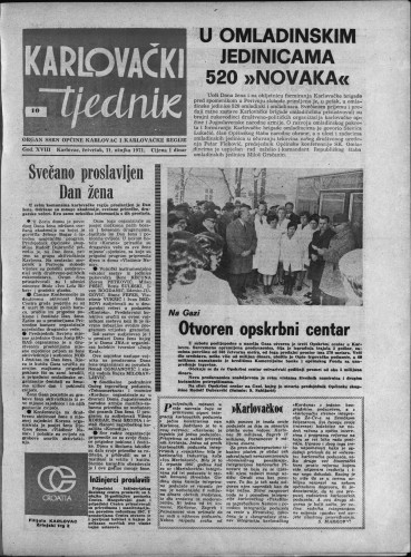 Karlovački tjednik: 1971 • 10