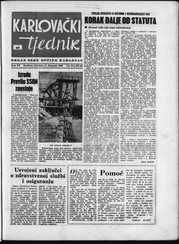 Karlovački tjednik: 1966 • 42