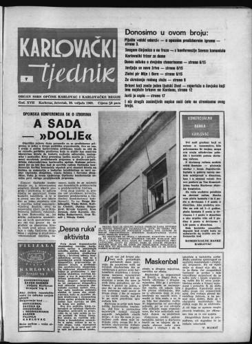 Karlovački tjednik: 1969 • 7
