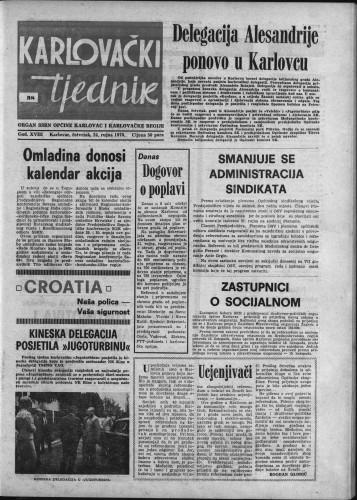 Karlovački tjednik: 1970 • 38
