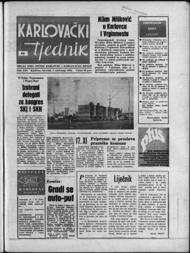 Karlovački tjednik: 1968 • 44