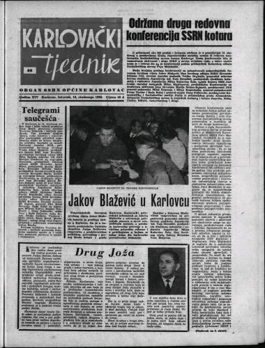 Karlovački tjednik: 1965 • 46