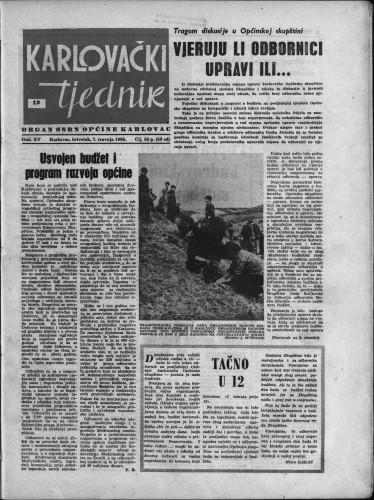 Karlovački tjednik: 1966 • 13