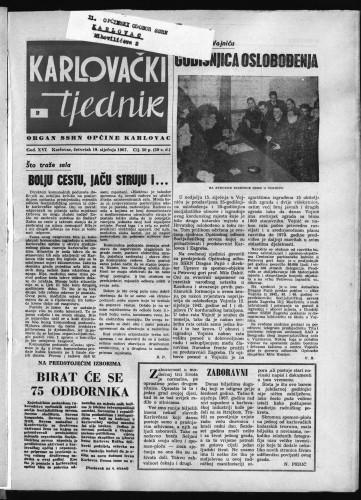 Karlovački tjednik: 1967 • 2