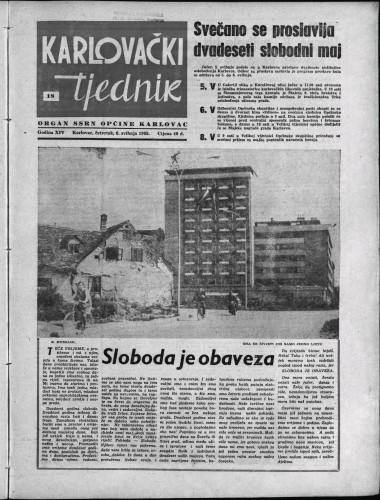 Karlovački tjednik: 1965 • 18