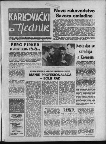 Karlovački tjednik: 1969 • 39