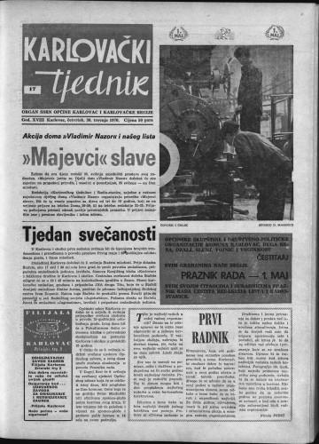 Karlovački tjednik: 1970 • 17