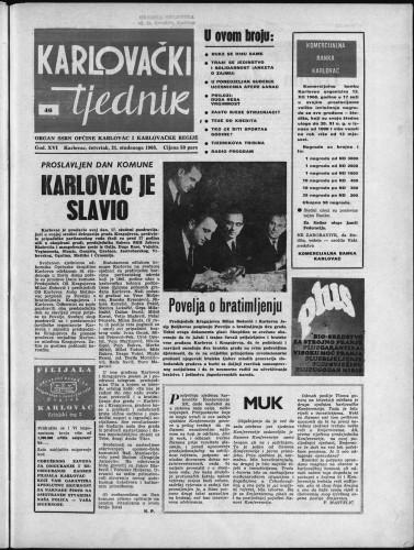 Karlovački tjednik: 1968 • 46