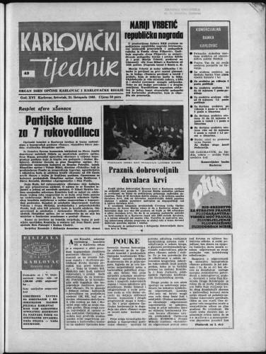 Karlovački tjednik: 1968 • 43
