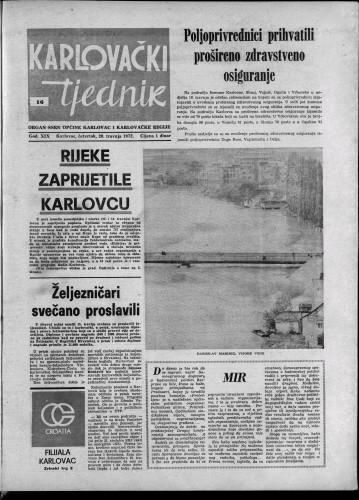 Karlovački tjednik: 1972 • 16
