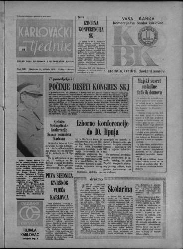 Karlovački tjednik: 1974 • 21