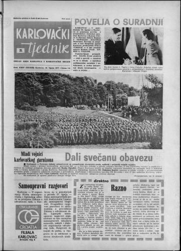 Karlovački tjednik: 1977 • 25