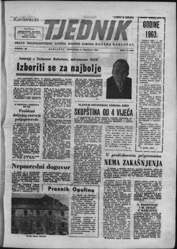Karlovački tjednik: 1963 • 14