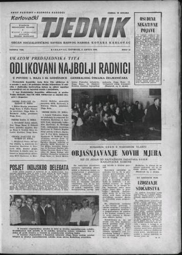 Karlovački tjednik: 1960 • 22