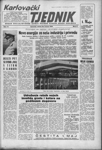 Karlovački tjednik: 1955 • 17
