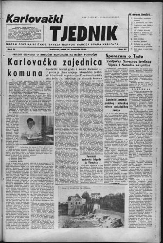 Karlovački tjednik: 1954 • 42