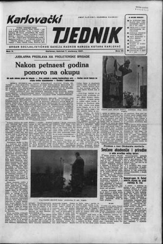 Karlovački tjednik: 1957 • 45