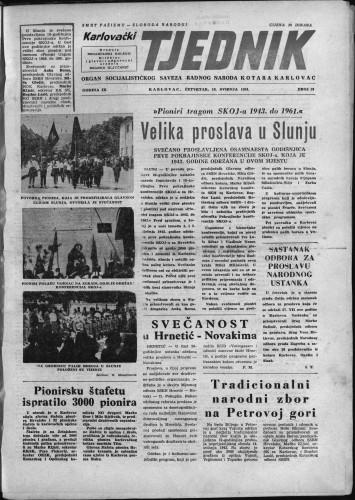 Karlovački tjednik: 1961 • 19