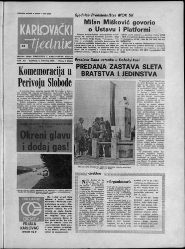 Karlovački tjednik: 1973 • 31